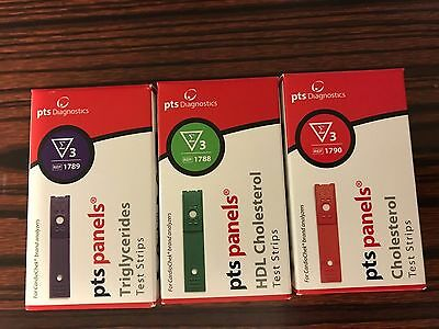 CARDIOCHEK CHOLESTEROL + HDL + Pts TRIGLY(PACK OF 3 KINDS) Test Strips