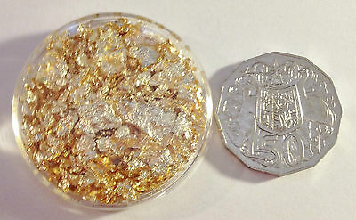Large 50 mm Capsule full of Gold Leaf/Flake (Awesome Investment)