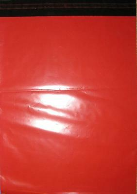 Assorted Size Red Mailing Courier Post Bags 161x240mm & 250x350mm