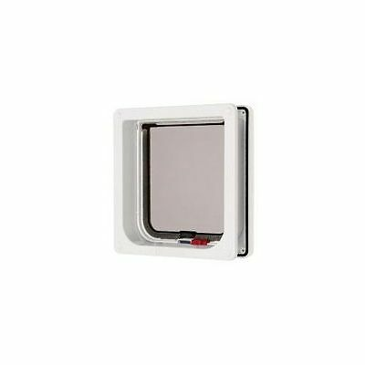 Lockable Cat Flap & Liner White 16.5x17.4cm - Accessories - Dog & Cat Doors - Do