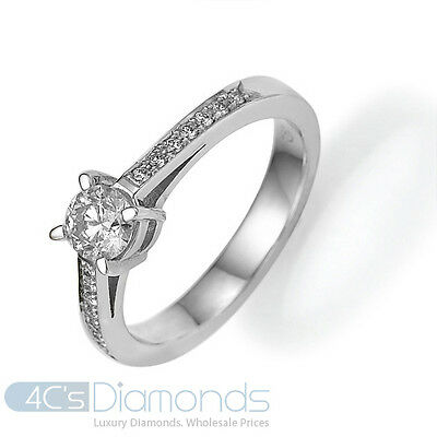 0.65CT Vintage Diamond Engagement Ring Antique Hand Engraved New 14k White Gold