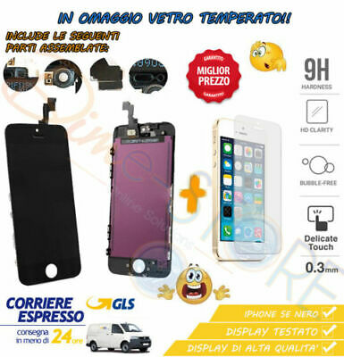 Vetro Touch Screen + Lcd Display Retina + Frame Vetro Per Apple Iphone 5S Nero