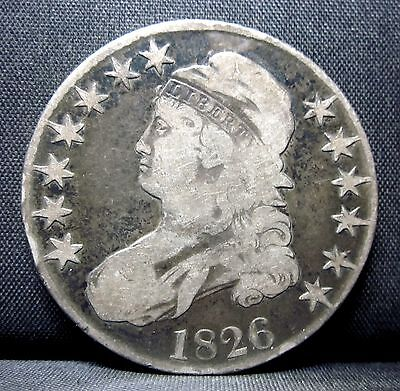 1826 Capped Bust Half Dollar ✪ Vf Very Fine ✪ 50C Silver L@@k Now ◢Trusted◣