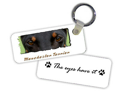 Manchester  Terrier   The  Eyes Have It   Key  Chain