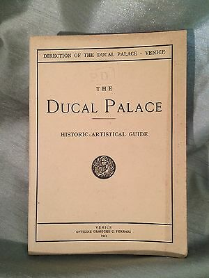 Vintage Ducal Palace Venice Historic Art Guide Tourism Booklet 1954 Illustrated