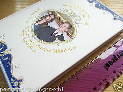 New - Hardback Lined Paper Note Book - Kate Middleton & Prince William - Royalty