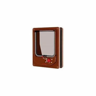 Electromagnetic Cat Flap Brown 16.8x21.9cm - Accessories - Dog & Cat Doors - Dog