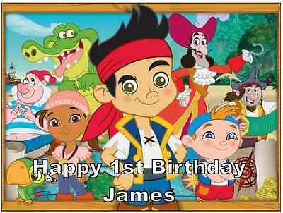 30 Jake and the neverland pirates cake toppers 40mm WAFER PAPER
