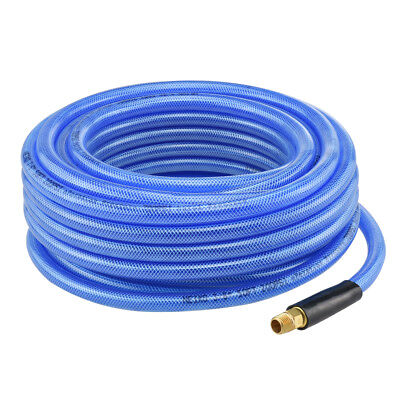 "50' ft Air Hose 3/8"" inch Ironflex Braided Polyprothane 200 PSI"