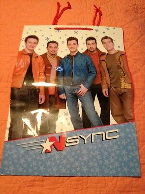 N Sync Vintage Gift Bag For Christmas 2001 Mint 17 X 12 Inches Large