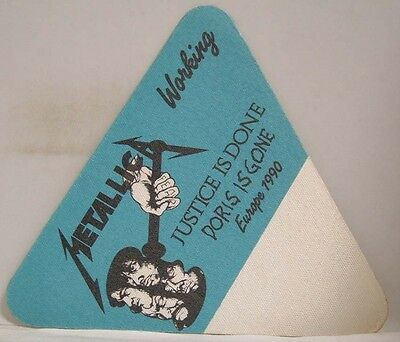 Metallica - Vintage Original Europe 1990 Cloth Backstage Pass