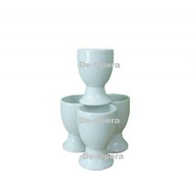Milan White Porcelain Ceramic Set of 4 Egg Cups Cup New