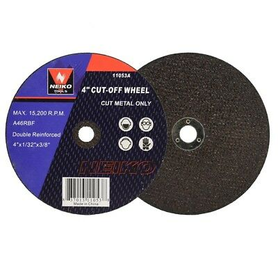 "20pc Cutoff Wheels 4"" x 1/32"" x 3/8"" inch Disc for Cutting Hard Steel Metal"