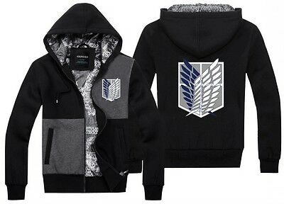 Anime Attack On Titan Freedom Wings Jacket Hooded Casual Sweatshirt Hoodie#FT10
