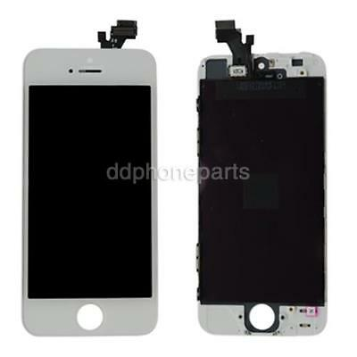 White LCD Screen Touch Digitizer Assembly Replacement Frame For Apple iPhone 5