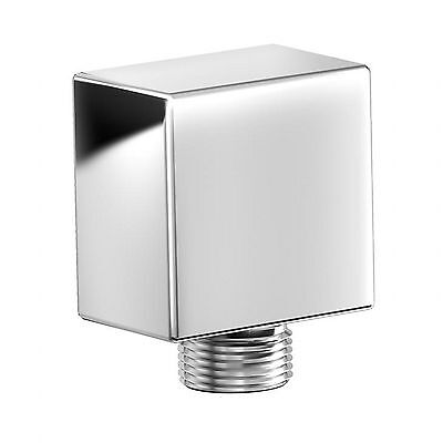 ENKI Chrome Covered Hand Shower Outlet Wall Valve Connector Square Bathroom Bath