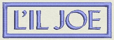 "Rectangle Custom Name Patch, Tag, Label 3"" x 1"" - Iron On / Sew On - Fast Ship"