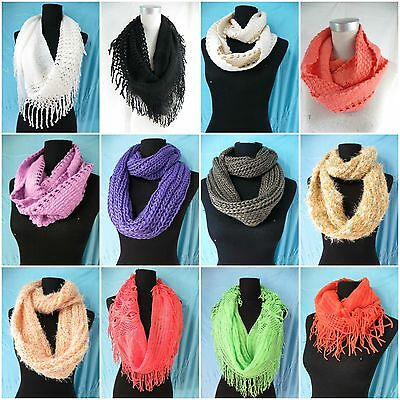 *US Seller*-- lot of 15pc wholesale circle loop winter infinity fashion scarf