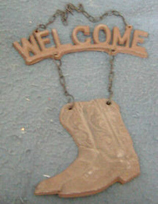 Welcome Cast Iron Boot Sign