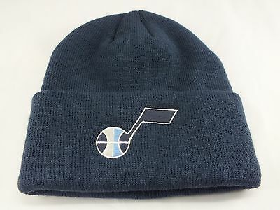 d3aa5a3780597 Utah Jazz Nba Knitted Beanie Winter Hat Cuffed Navy Blue New By Adidas B-14