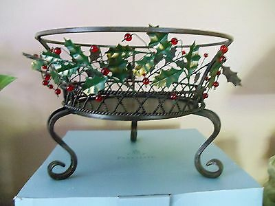 Party Lite Christmas Holly Lites 3 wick Candle Holder in BOX