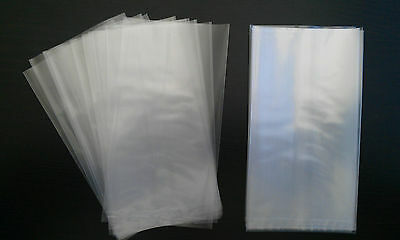 100 Poly bags LDPE Plastic sleeves 125mm x 65mm 50um Clear bags heat seal bags