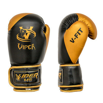 Viper Boxing Gloves Sparring Muay Thai Punch Bag Mma Rex Leather Gel Training