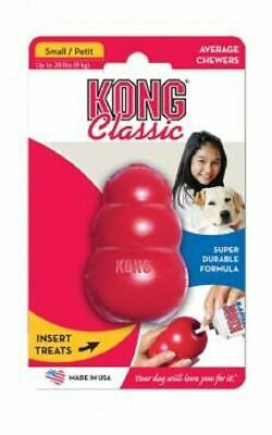 Kong Classic Red Interactive Dog Toy - Stuff it, Toss it, Play with it! - Small