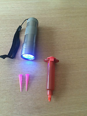 5Ml Fly Tying Uv Resin, Glue Light + Nozzle + 12 Led Uv Torch For Curing
