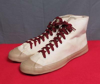 "Vintage 1930s Ball Band Basketball Sneakers~Shoes Deadstock! 10 1/4"" Chucks Rare"