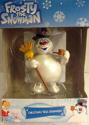 * FROSTY  THE SNOWMAN *  With Pipe and Broom Ornament Christmas  New!