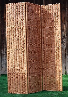 NATURAL Wicker Room Divider Hand Made Privacy Screen Separator Partition H 170cm