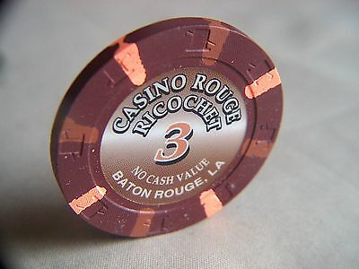 RICOCHET CHIP CASINO ROUGE BATON ROUGE, LA GAMING CHIP POKER CHIP