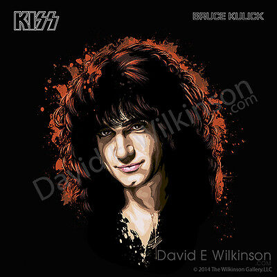 Bruce Kulick of KISS LP Album Size Art Giclee' by David E. Wilkinson