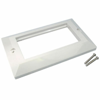 Faceplate 4 Port Bevelled Double Gang 146 x 86mm for RJ45 Modules [007327]