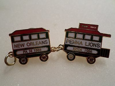 VINTAGE LIONS CLUB INT. PIN, NEW ORLEANS PENNA LIONS , PA 14 1986 , MD14 1986
