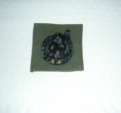 US ARMY SEW ON SUBDUED BDU RECRUITING BADGE BLK & OD