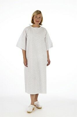 Unisex PATIENT GOWN, Reusable Wrap Around Style - Hospital Supplied, Night Dress