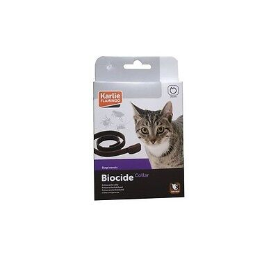 Karlie Flamingo BIOCIDE 35cm Collar Antiparasitario Gatos Natural Repele Incecto