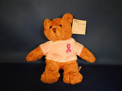 Avon Breast Cancer Crusade Bear with Pink Velour Shirt NEW with Tag 2001