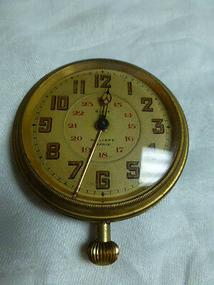 ANTIQUE PHILIPPE PARIS 8 DAY CAR CLOCK WITH ALARM