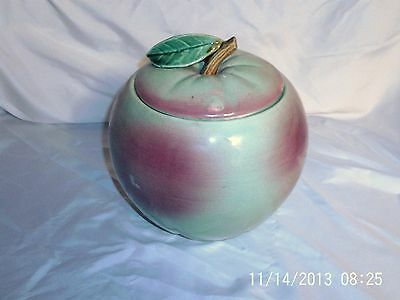 Vintage McCoy Red and Green Apple Cookie Jar