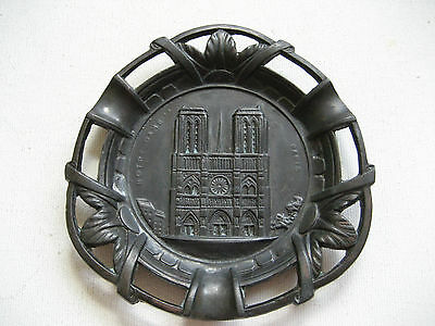Vintage Metal Ash Tray of Notre Dame Paris - Made In France