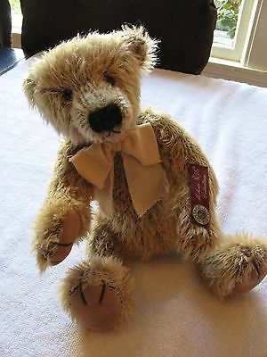 "Vintage RUSS MOHAIR COLLECTION 11"" Bentley - brown teddy bear w/tag EUC"