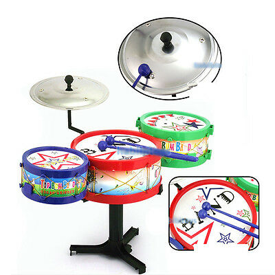 New Drum Set Children's Colorful Plastic Musical Instrument Toy
