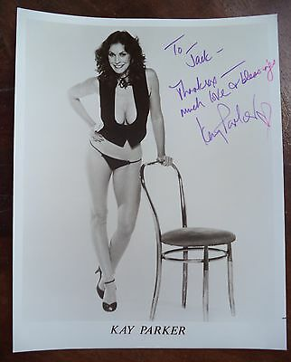 "KAY PARKER HAND SIGNED 8""x10"" 1980s PHOTO AUTOGRAPHED GOLDEN YEARS SUPERSTAR"
