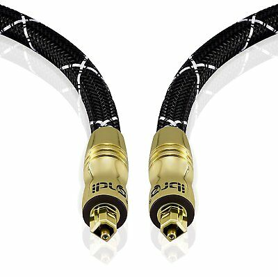 3m - BLACK MASTER TOSLink Optical Digital Audio Cable Lead SPDIF PS3 Sky HD