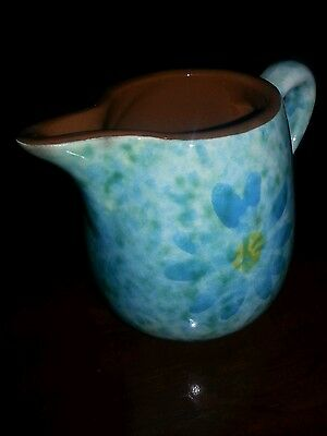 BY STANGL Vintage Flower Pottery Hand Painted Stardust Made in Trenton, NJ USA