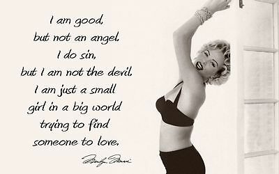 Marilyn Monroe Quote Stretched Canvas Wall Art Movie Poster Print Model Icon