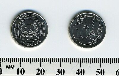 Singapore 2013 - 10 Cents Nickel Plated Steel Coin - Lion-head motif